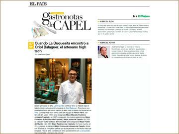 EL PAÍS Gastronotas - 7 enero 2016