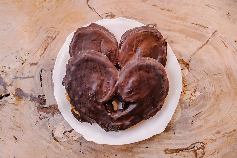 La Duquesita - Palmeras de hojaldre en dos versiones: de azúcar y de chocolate